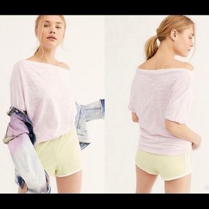 NWT free people orchid light off shoulder top